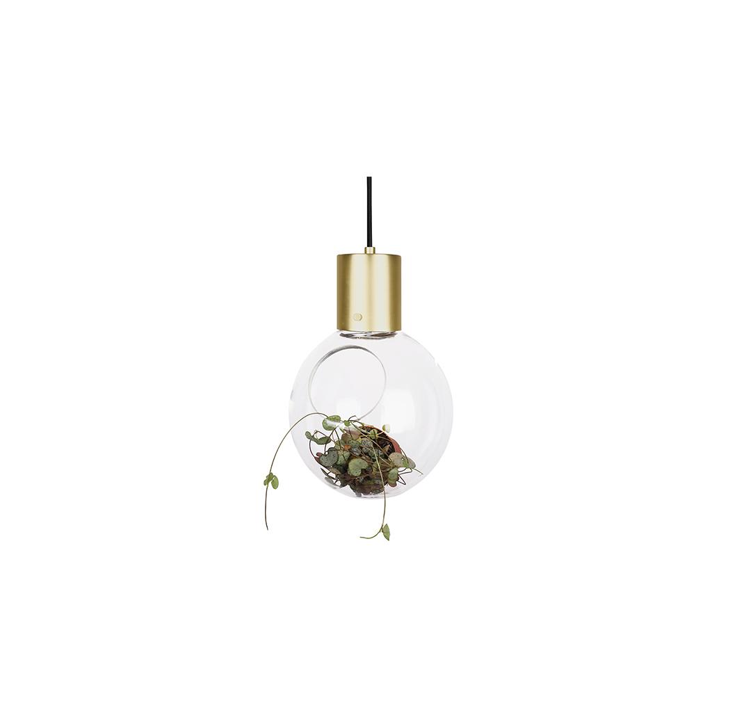 S vedalens belysning globen lighting mini hole pendel klar borsad m ssing s vedalens belysning - Globen lighting ...