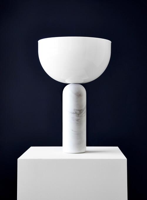 New Works Kizu Table Lamp, White Marble, Large